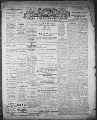 Farmersville Reporter and County of Leeds Advertiser (18840522), 8 May 1888