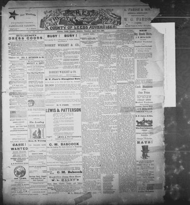 Athens Reporter and County of Leeds Advertiser (18920112), 21 Apr 1891
