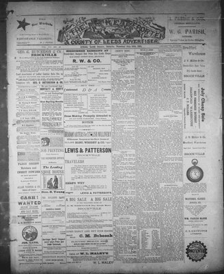 Athens Reporter and County of Leeds Advertiser (18920112), 14 Jul 1891