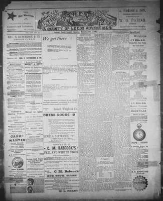 Athens Reporter and County of Leeds Advertiser (18920112), 1 Dec 1891