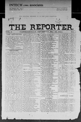 Farmersville Reporter and County of Leeds Advertiser (18840522), 22 May 1884