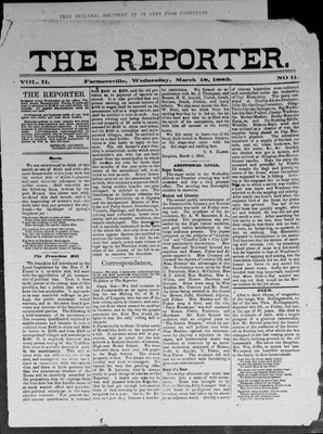 Farmersville Reporter and County of Leeds Advertiser (18840522), 18 Mar 1885
