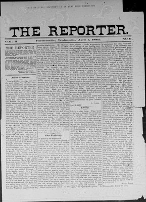 Farmersville Reporter and County of Leeds Advertiser (18840522), 1 Apr 1885