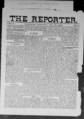 Farmersville Reporter and County of Leeds Advertiser (18840522), 22 Apr 1885
