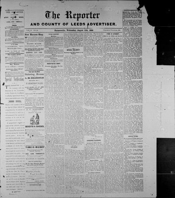 Farmersville Reporter and County of Leeds Advertiser (18840522), 11 Aug 1886