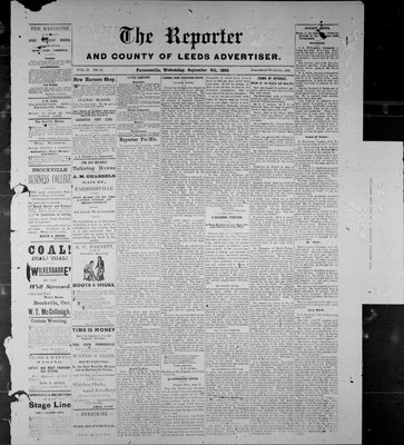 Farmersville Reporter and County of Leeds Advertiser (18840522), 8 Sep 1886