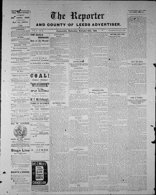 Farmersville Reporter and County of Leeds Advertiser (18840522), 24 Nov 1886