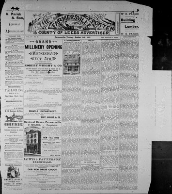 Farmersville Reporter and County of Leeds Advertiser (18840522), 4 Oct 1887