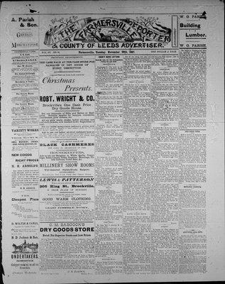 Farmersville Reporter and County of Leeds Advertiser (18840522), 29 Nov 1887