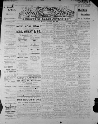 Farmersville Reporter and County of Leeds Advertiser (18840522), 6 Dec 1887