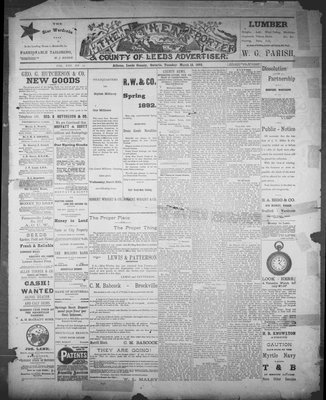 Athens Reporter and County of Leeds Advertiser (18920112), 15 Mar 1892