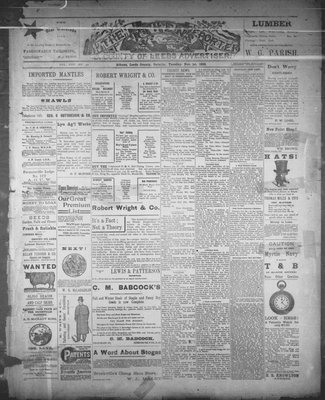 Athens Reporter and County of Leeds Advertiser (18920112), 1 Nov 1892
