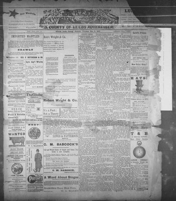 Athens Reporter and County of Leeds Advertiser (18920112), 8 Nov 1892