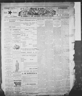 Athens Reporter and County of Leeds Advertiser (18920112), 20 Feb 1894
