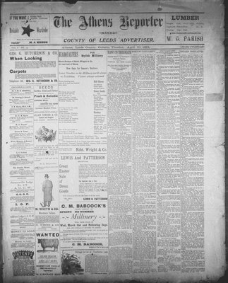 Athens Reporter and County of Leeds Advertiser (18920112), 10 Apr 1894