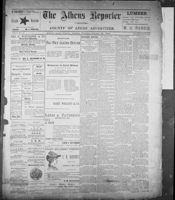Athens Reporter and County of Leeds Advertiser (18920112), 16 Oct 1894