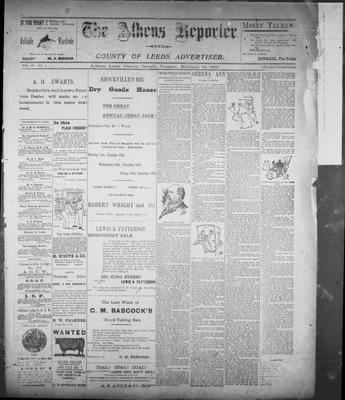 Athens Reporter and County of Leeds Advertiser (18920112), 12 Feb 1895