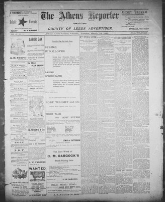 Athens Reporter and County of Leeds Advertiser (18920112), 12 Mar 1895