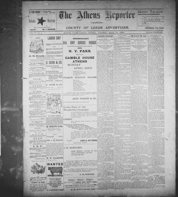 Athens Reporter and County of Leeds Advertiser (18920112), 16 Apr 1895