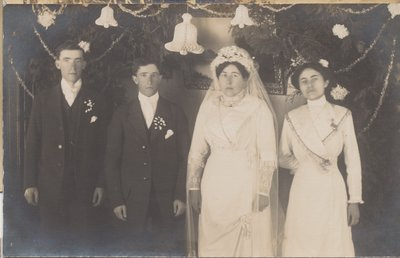 Wedding of Ida Louise Rowswell and James Silas Gary 26 February 1913