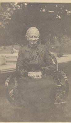 Sarah Barr Thompson 1849-1936 at Chaffey's Lock c. 1930.