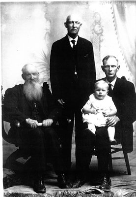 Charles Tackaberry with his son George, grandson Frank and great-grandson Arthur c.1921