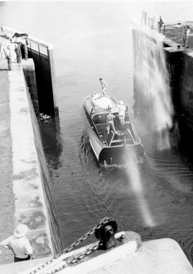 Locking through Chaffey's Lock c.1955