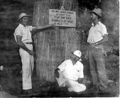 Charlie Gamble and friends California Ontario c.1945