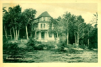 Cottage on Big Rideau Lake near Portland c.1930