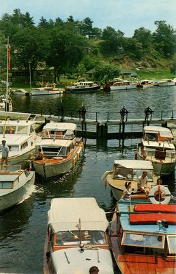 Jones Falls Lockage - Hotel Kenney in background c.1965