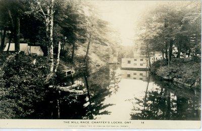 Mill race at Chaffey's Locks c.1930
