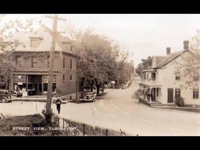 Elgin Corner of Main and Kingston Street  c.1935