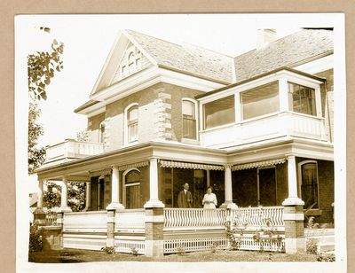 Edward and Harriet Pierce in front of their Delta home c.1910