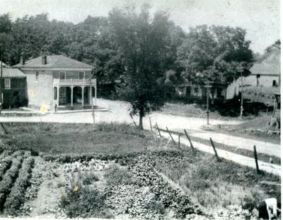 Morton brick general store from adjacent hill c.1940