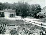 Morton brick general store from adjacent hill c.1940