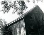 Frame shed possibly a blacksmith shop in Morton c.1940