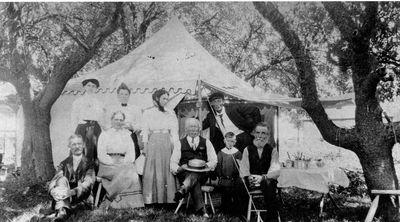 Family outing at Bass Lake c.1900