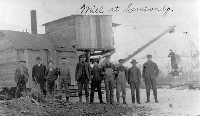 Sawmill and workers at Lombardy c.1905