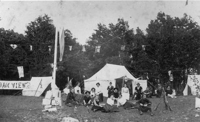 Oakview Camp on Petty Bay, Big Rideau c.1901