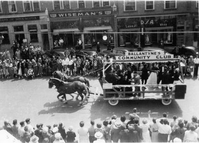Ballantyne Community Club Float 1950