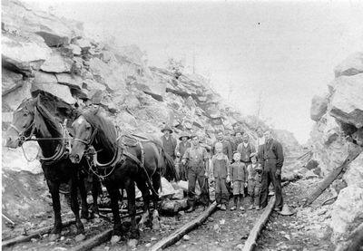 Cutting line for CNR railway near Otter Lake c.1912