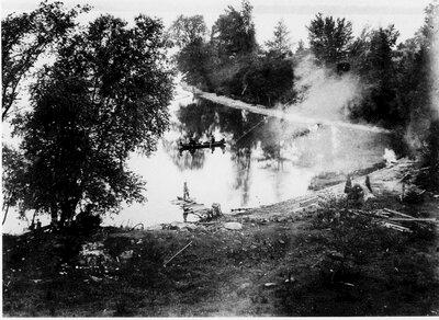 Canoeing on Bass Lake at Lakeside Farm c.1905