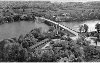 Aerial view of Rideau Ferry c.1970