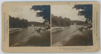 Stereograph of Chaffey's Lock c.1900