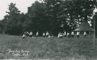 Baseball Game at Beverley Camp