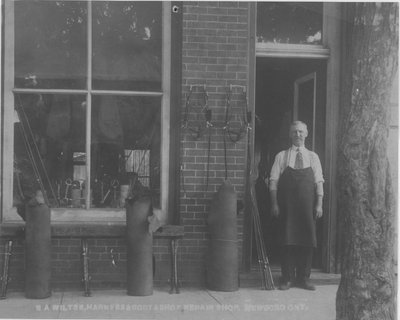 E.A. Wiltse's Harness and Shoe Repair Shop