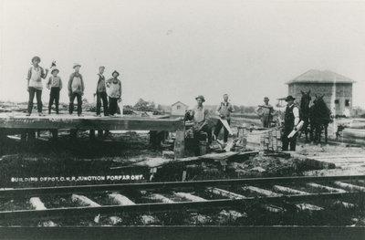 Building depot for C.N.R. in Forfar c.1915