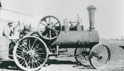 Waldon Myers with Steam Tractor