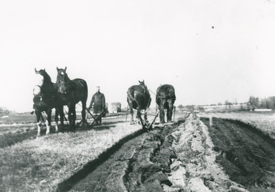 Willie Preston Ploughing in Chantry, Ontario