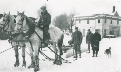 Snowploughing in Chantry, Ontario